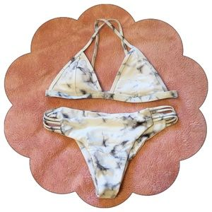 Other - PRICE FIRM NEW Marble Cheeky Bikini Small